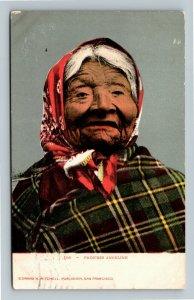 Native Americana - Duwamish Princess Angeline, Indian Vintage c1907 Postcard