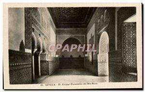 Old Postcard Sevilla El Aleacar Dormitorio Del Rey Moro