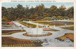 Indianapolis, IN, USA Sunken Gardens, Garfield Park