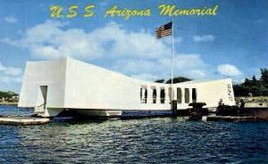 U.S.S. Arizona Memorial Pearl Harbor HI Writing On Back