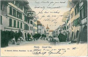 Vintage postcard: SWITZERLAND - SCHWEIZ :  Murten, Morat-  See -  Fribourg  1904