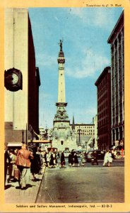 Indiana Indianapolis Soldiers and Sailors Monument 1954 Dexter Press