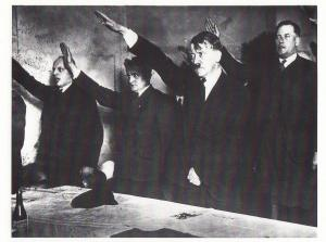 Hitler Salute Saluting German WW2 Election Lipps 1938 Photo Postcard