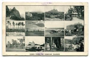 Hawaiian Island Multi View Hawaii 1910c postcard