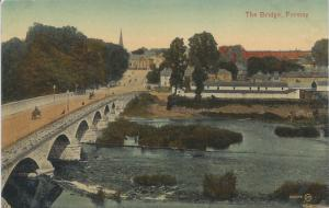 The Bridge, Fermoy, Ireland, Early Postcard, Unused