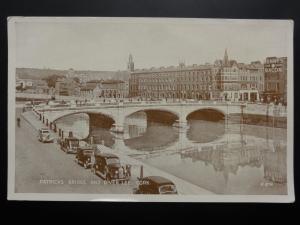 Ireland CORK Patricks Bridge and River Lee c1937 by Valentine's R874