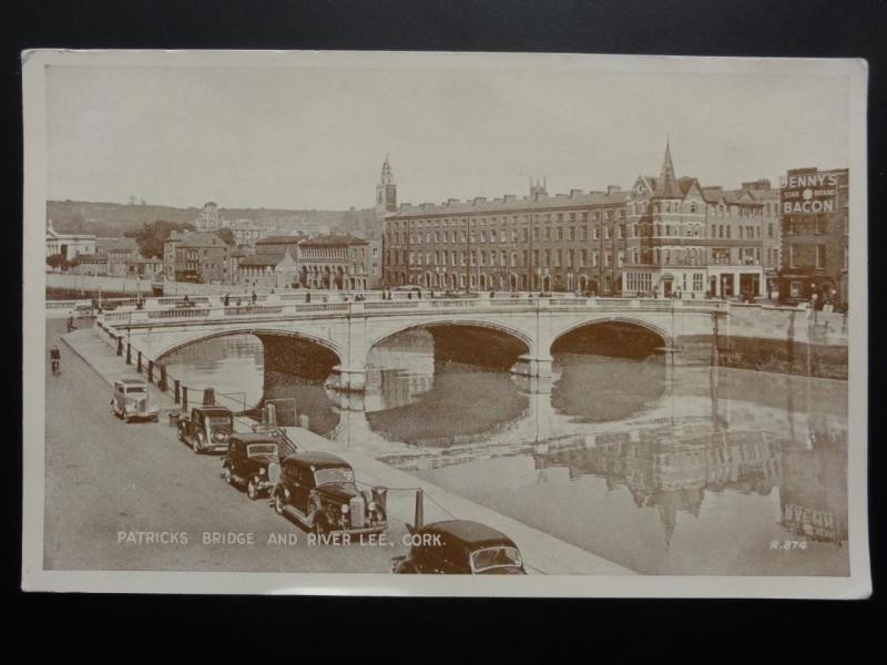 Ireland CORK Patricks Bridge and River Lee c1937 by Valentine's R874