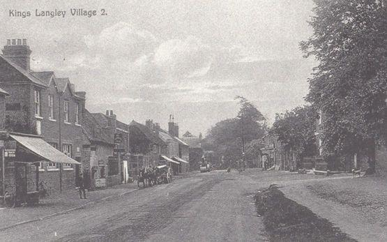 Corner Shop On High Street Kings Langley 1914 Pre WW1 View Herts Rare Postcard