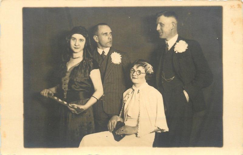 I'm Still Irritated By You~2 Gals, 2 Guys Zinzeldorf? to Erinnerung RPPC 1935
