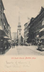 BOSTON , Massachusetts , 1901-07 ; Street View , Old South Church