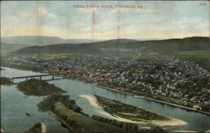 Towanda PA From Table Rock c1910 Postcard
