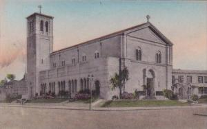 California Los Angeles Saint Paul's Church Washington And Bronson Handcolored...