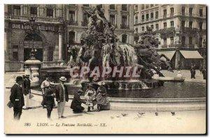 Old Postcard Lyon Bartholdi fountain