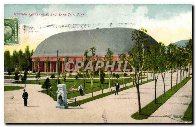 Postcard Old Mormon Tabernacle in Salt Lake City Utah