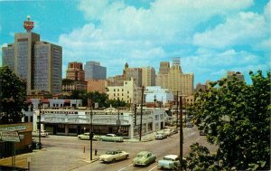 Automobiles Houston Texas Skyline Morse Teich 1957 Postcard 20-13012