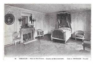 France Versailles Marie Antoinette Bed Vtg Bourdier Postcard