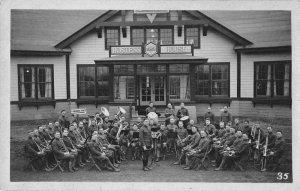 Camp Custer Michigan YMCA Brigade Band Real Photo Vintage Postcard JI658296