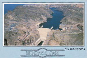 Aerial View Hoover Dam Arizona