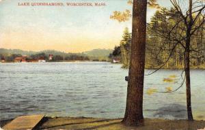 Worcester Massachusetts Lake Quinsigamond Waterfront Antique Postcard K106271