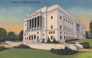Ohio Dayton Masonic Temple 1958 Curteich