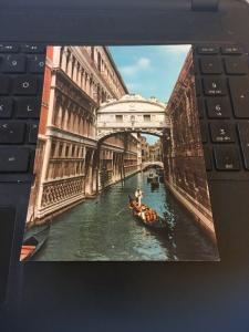 Vintage Postcard; Venezia, Venice Bridge of Sighs