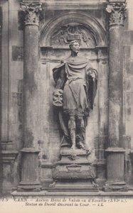 CAEN, France, 1910-1920s, Statue de David decorant la Cour