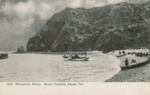 SANTA CATALINA ISLAND , California , 1901-07;  Moonstone Beach