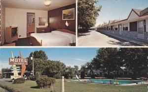 Interior, Exterior & Swimming Pool, Motel Plaza Enr., Ste-Foy, Quebec, Canada...