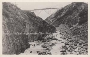 RP: Train on Railroad Bridge,  B.C., Canada, 1910-30s