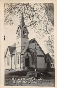 F21/ Bowdoinham Maine RPPC Postcard c1910 Universalist Church