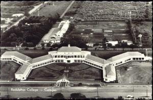 curacao, N.W.I., WILLEMSTAD, Radulphus College (1950s) Aerial RPPC