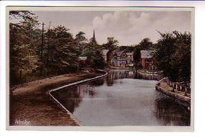 Tinted Photo, River and Houses, Worsley, England, R. A. P. Co