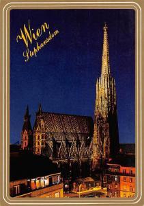 Vienna St. Stephen's Cathedral by Night Stephansdom bei Nacht