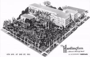 Aerial View Huntington Resort Hotel St Petersburg Florida RPPC postcard 1806