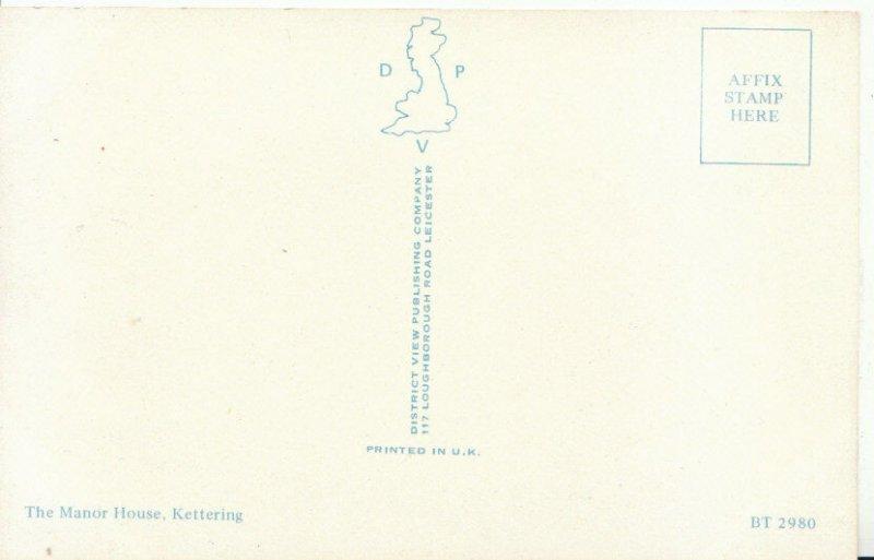 Northamptonshire Postcard - The Manor House, Kettering - Northampton - Ref 4487A