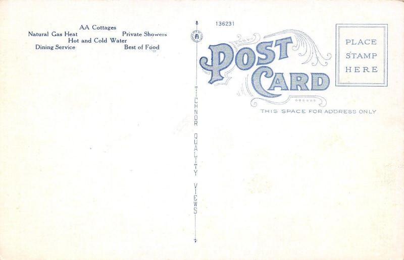 Smyrna Georgia~Stonewall Cottages~Steak & Chicken Dinners~RFD 1~1930s Linen PC