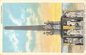 Miami Florida Flagler Monument Multiview Antique Postcard K63343