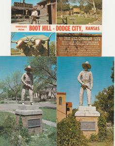 (3 cards) Dodge City - Boot Hill KS, Kansas