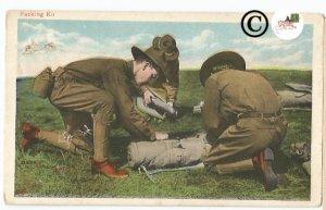 Military Postcard Packing Kit Illustrated USA World War Uniform