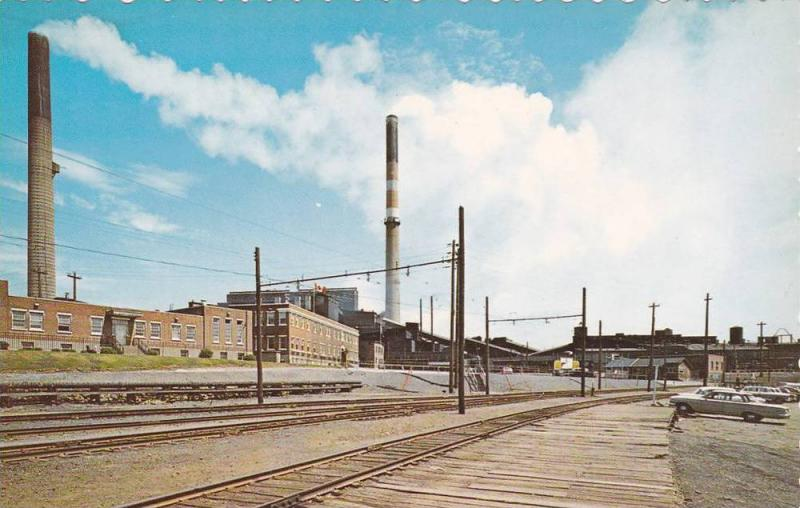 The Noranda Mine & Administrative Building, Rail Road Tracks, Rouyn-Noranda, ...