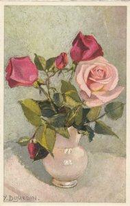 AS: Y. Dujardin, Still Life: Roses in vase