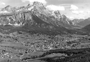 Italy Cortina Faloria Sorapis Antelao Aerial view Panorama Mountain