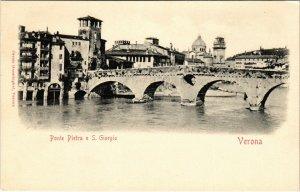 CPA verona Ponte Pietra e. S.Giorgio ITALY (800627)