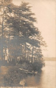 LPN26 Bridgeton New Jersey Sunset Lake City Park Postcard RPPC