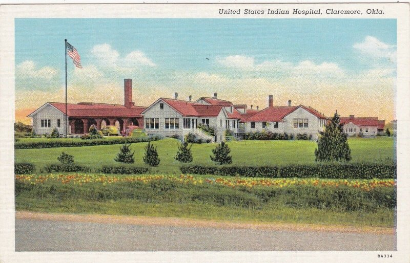 Oklahoma Claremore United States Indian Hospital Curteich sk4427