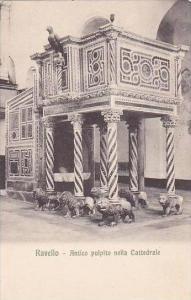 Italy Ravello Antico pulpito nella Cattedrale