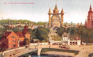 Sweden Old Vintage Antique Post Card Stockholm Unused