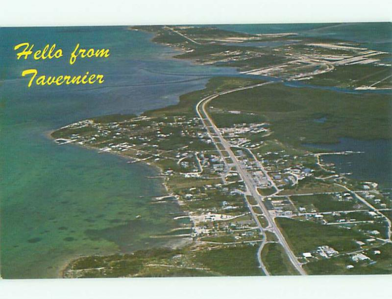 Unused Pre-1980 AERIAL VIEW OF TOWN IN TAVERNIER Key Largo Florida FL n2281