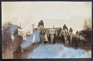 Mint USA Real Picture Postcard Circus Tuscarawas County Ohio SH Green Photo