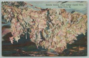 Horse Cave Kentucky~Helictite Gallery~Floyd Collin Crystal Cave~Vintage Postcard